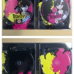 The inside of the digipack, with discs inserted and disc removed, of the UK Collector's Edition of Blood Lad