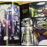 A glimpse inside the Blood Lad UK Collector's Edition booklet. Background Art.