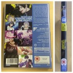 The DVD back cover and spine of Blood Lad