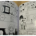 A glimpse inside the Blood Lad UK Collector's Edition booklet. Some of the manga in the booklet.