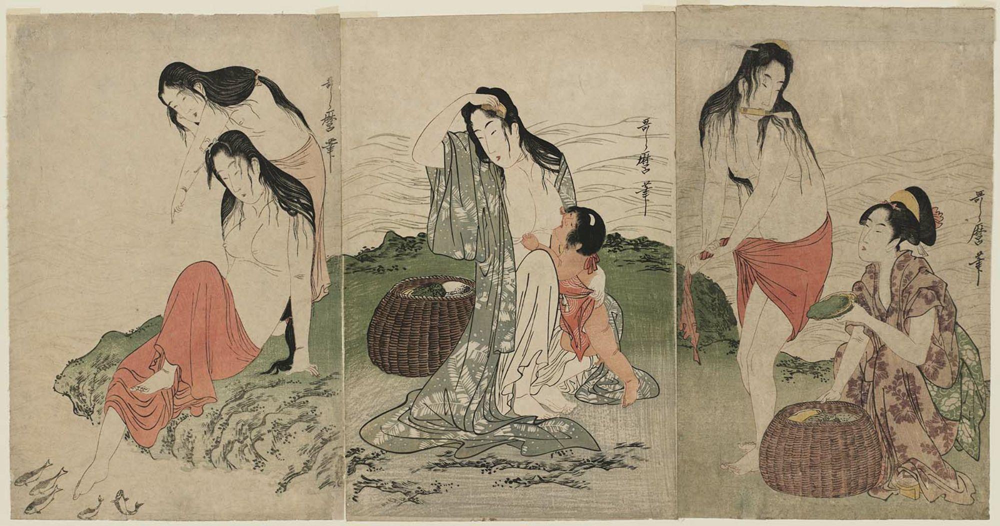 Kitagawa Utamaro: Abalone Divers - Museum of Fine Arts