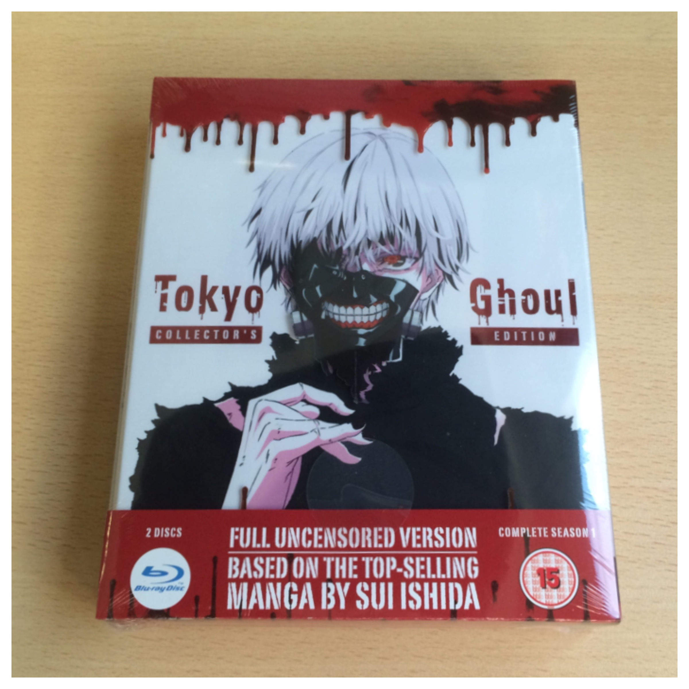 Tokyo Ghoul Limited Edition Blu-ray as you will receive it.