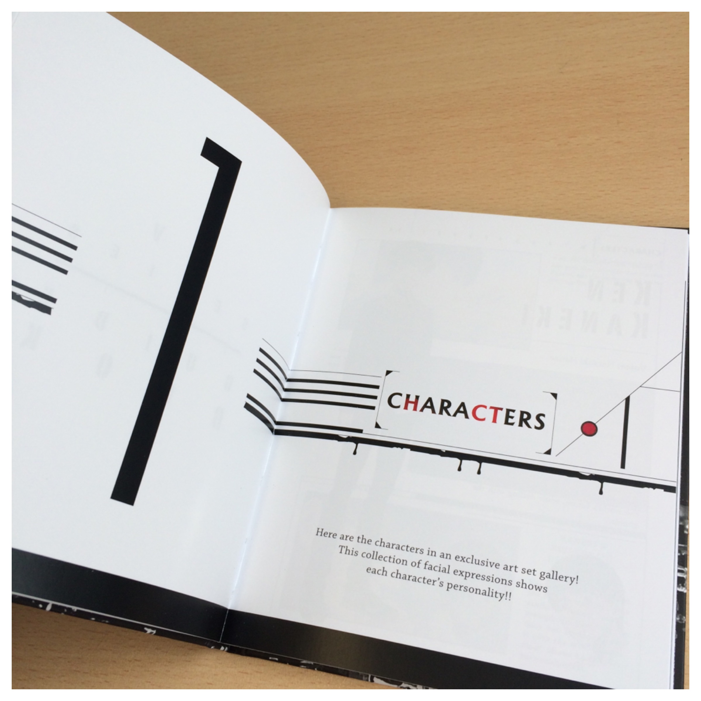 The book is split into 4 sections, the first sections focuses on the characters.