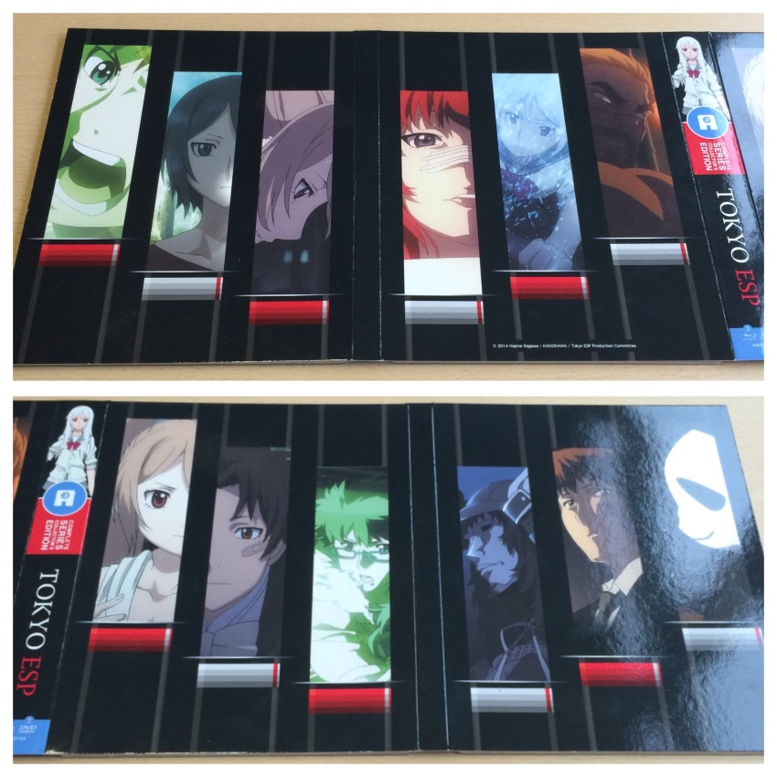 A look at the outer side of the digipack, the top  photo being sections with the centre being on the right, the bottom photo bring the other two section with the centre spine on the left.