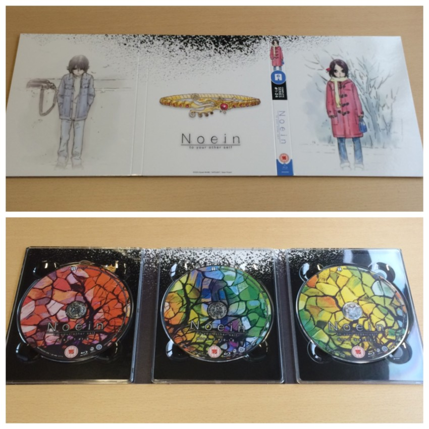 The digipack. The top photo is the outer side of the digipack, the bottom photo is inner side of the digipack.