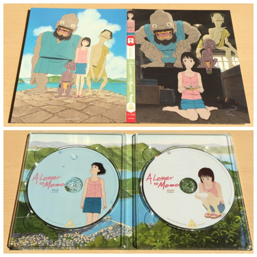 The image on top is the digipack with the outer artwork face up. The image below is the inside of the digipack where discs are housed.