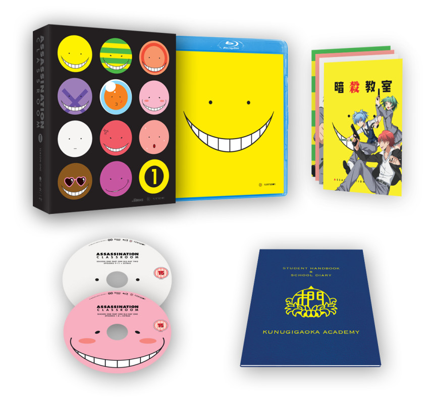 Assassination Classroom Season 1, Part 1 Ltd Collector's Edition Blu-ray - out 30th May