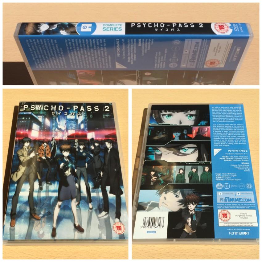 Psycho-Pass 2 DVD.