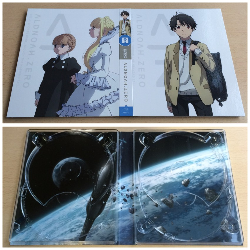 First of all the digipack that holds the discs. The top image is the outer side, the bottom the inner side with the disc removed