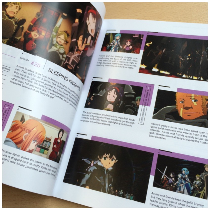 The first episode guide in the book.