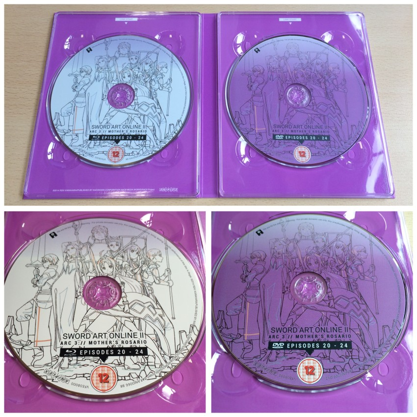 Now the inner side of the digipack with the discs in place.