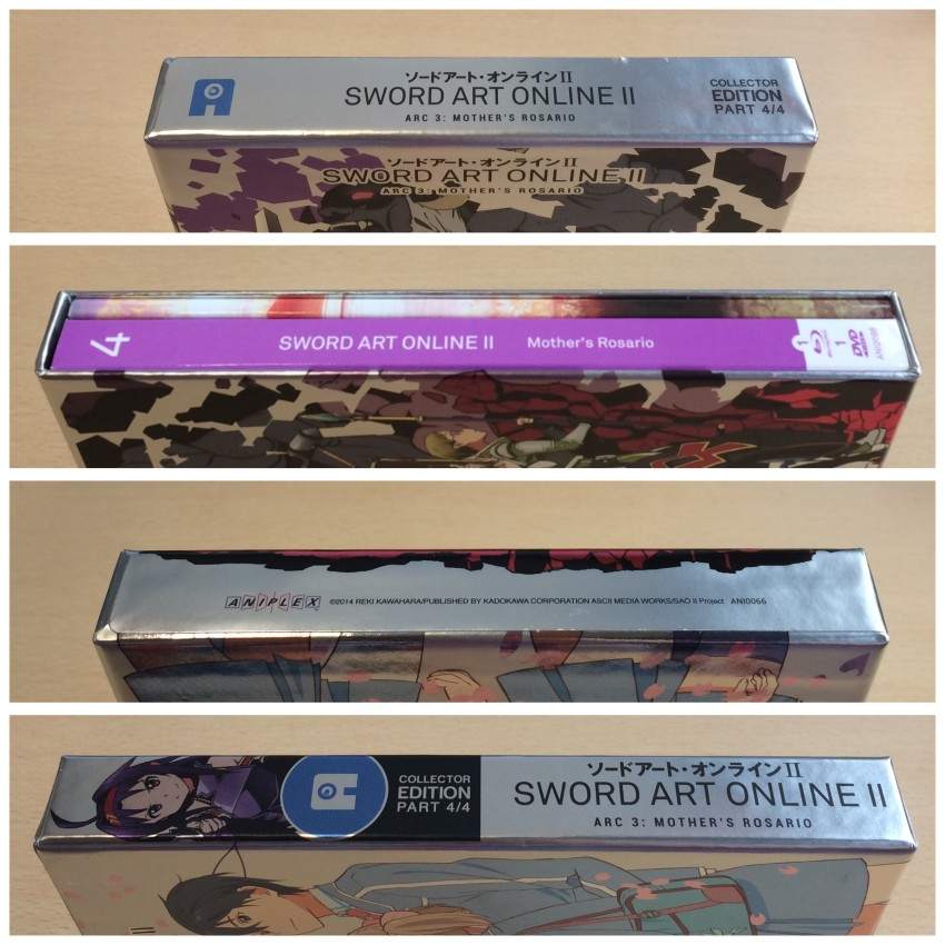 All four spines with the cellophane removed.