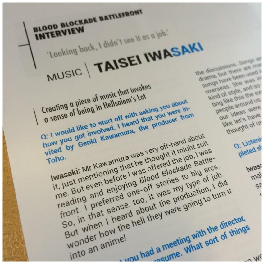 Taisei Iwasaki (who wrote the music for the series)