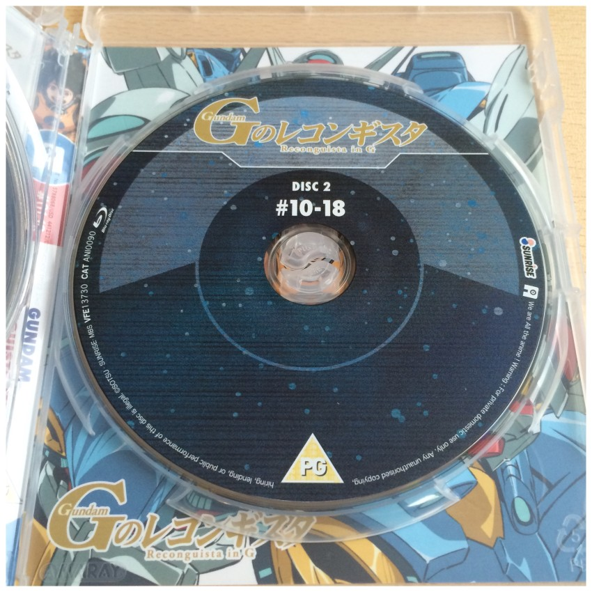 A close of up of disc 2