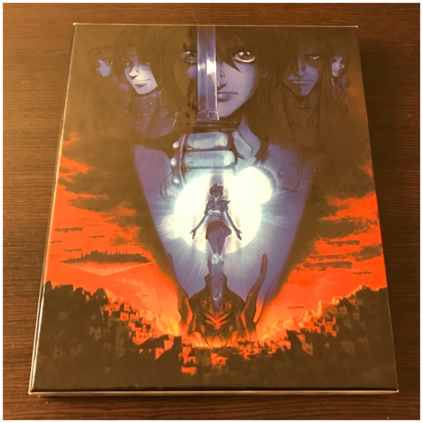 First of all, Escaflowne the Movie. Here's the front side of the rigid case case holding a digipack.