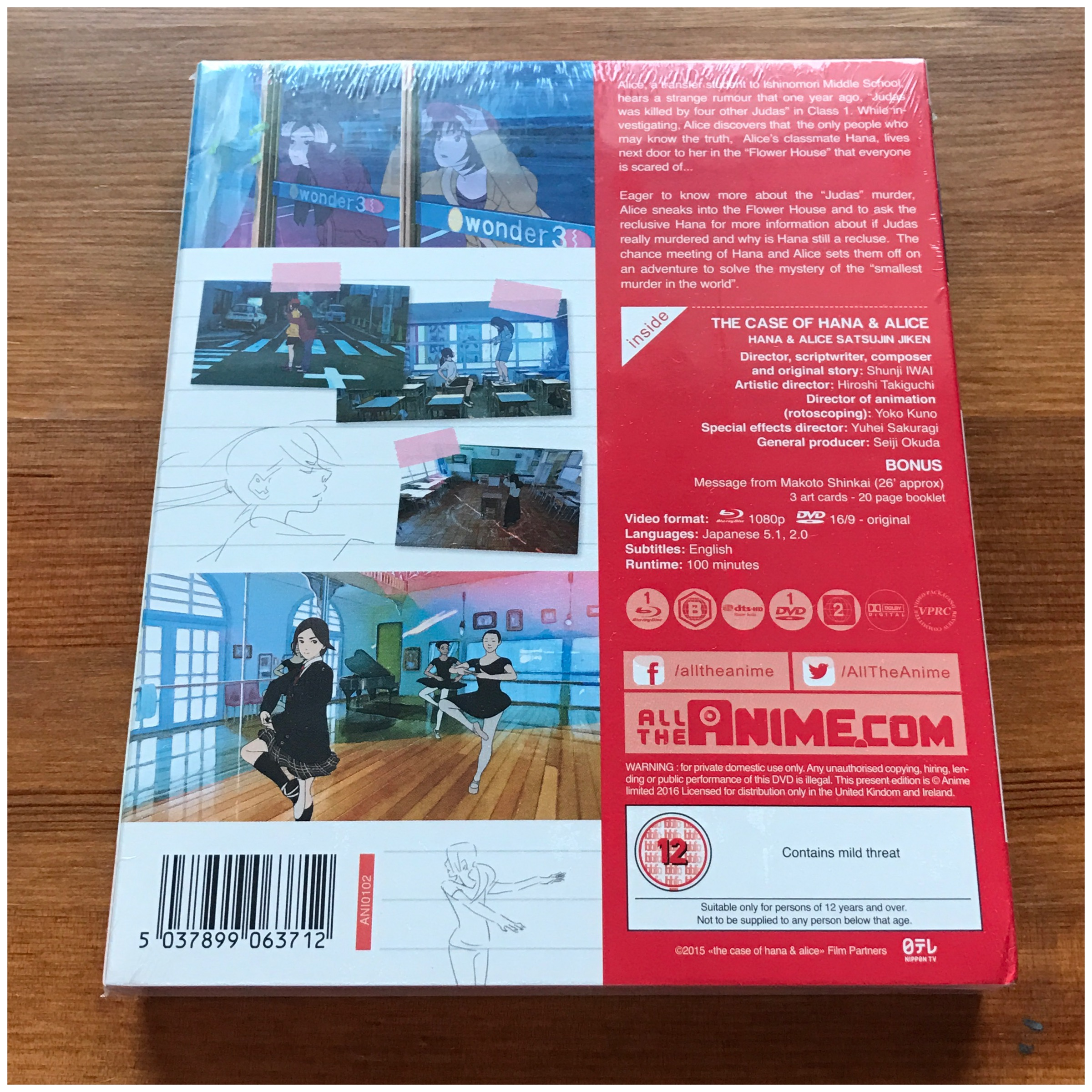 The Back Of The Box, Cellophane Still Around It.