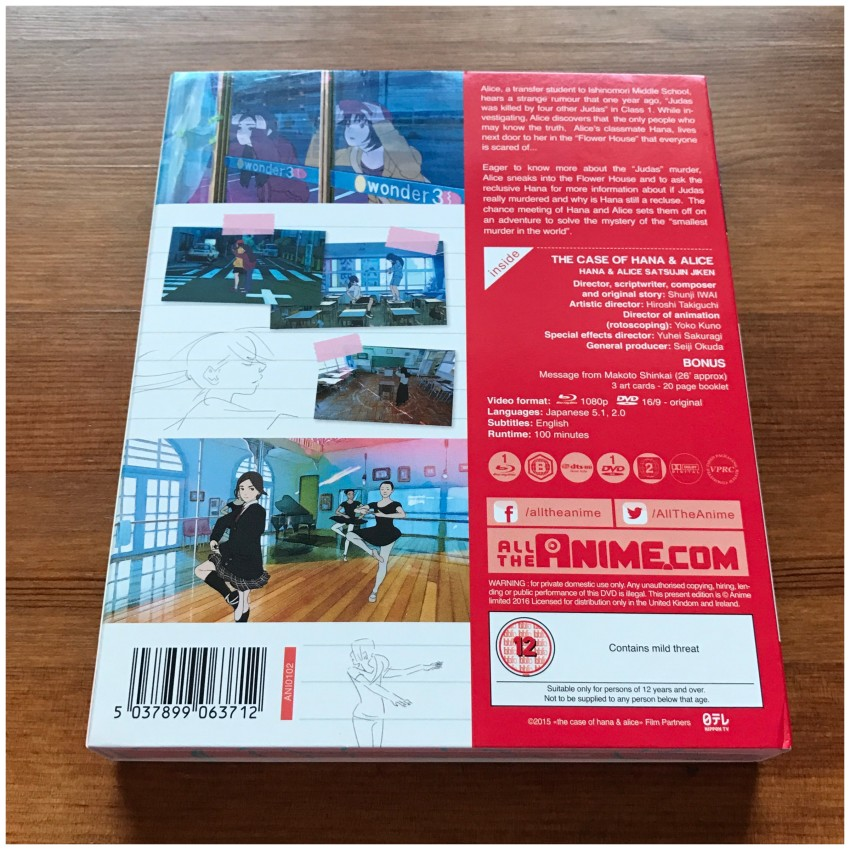 The back of the box with the cellophane removed.