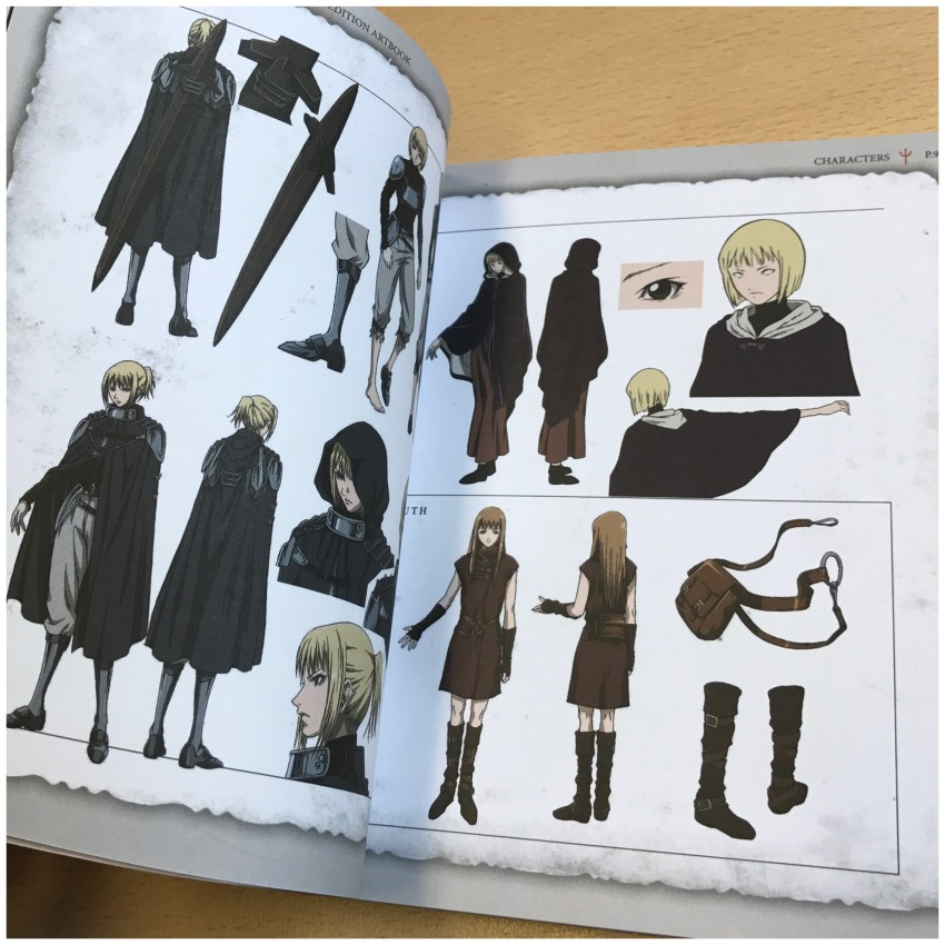 Another little glimpse of the start of the character section