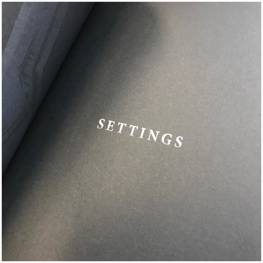 Section 3: SETTINGS (again, possible spoilers ahead)
