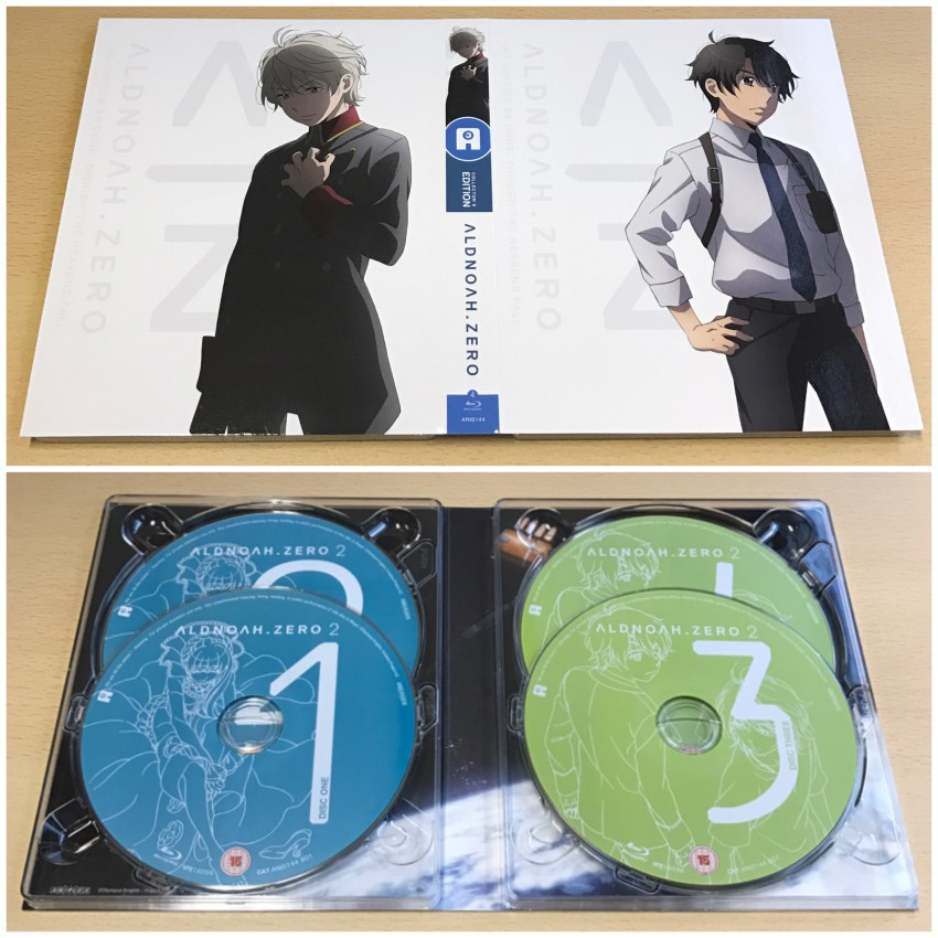 First of all, the digipack. The outer side (top) and inner side (bottom) with the discs in place.