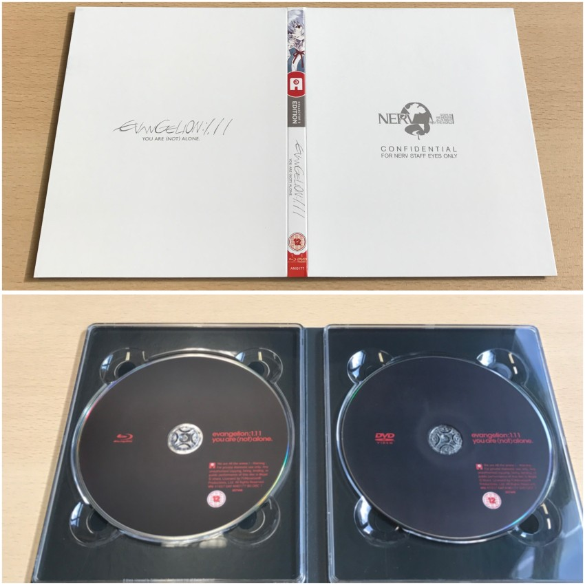 The digipack. Outer side (top) and inner side (bottom) holding the discs.