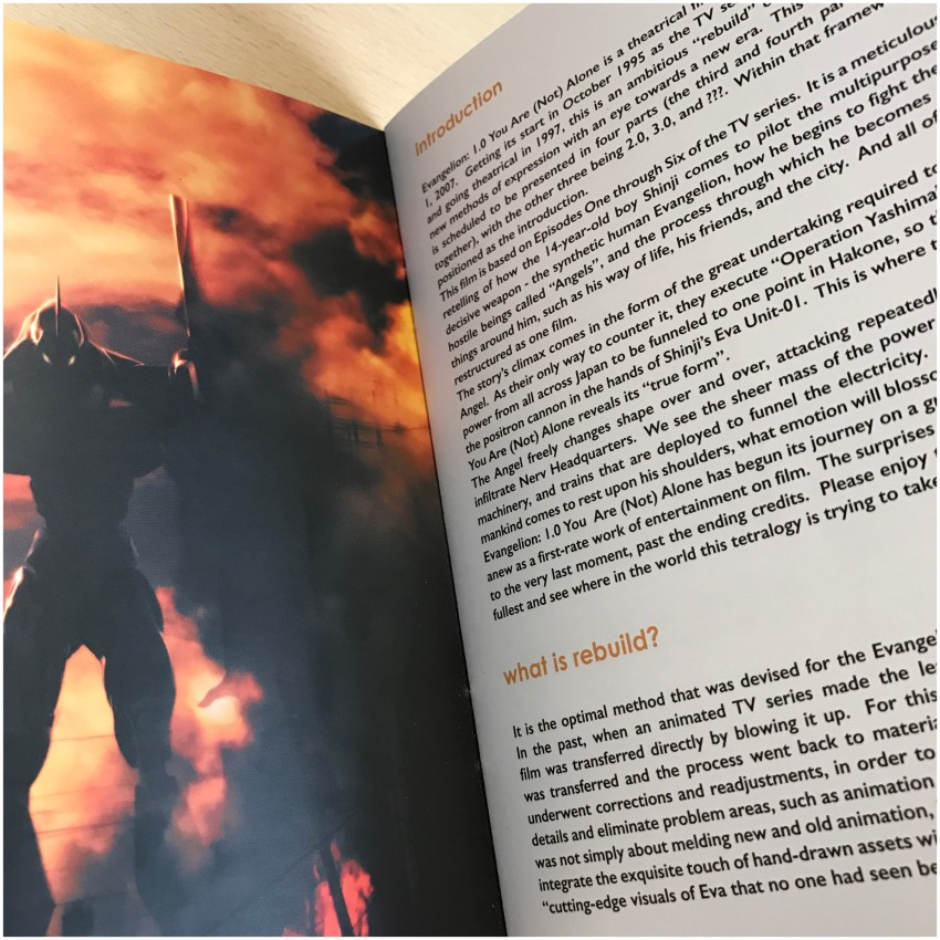 A glimpse at part of the booklet