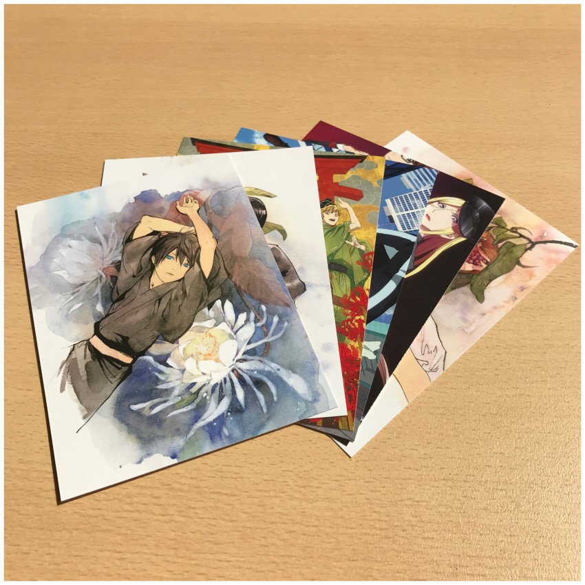 You also get six art cards with this release