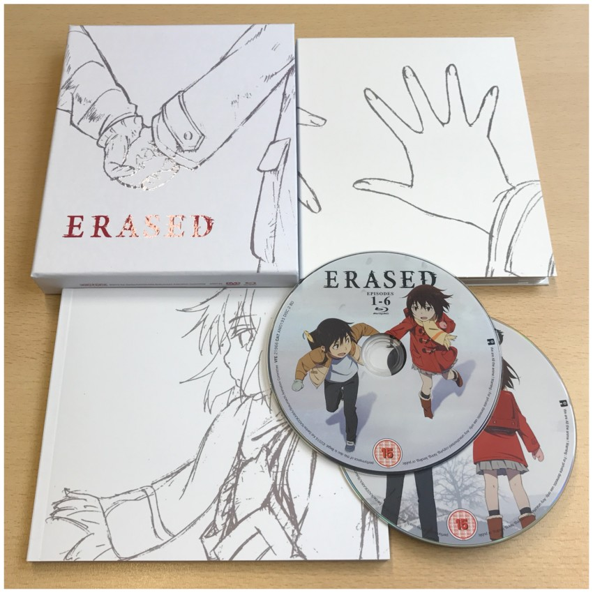 ERASED Part 1, Ltd Collector's Edition Blu-ray+DVD set