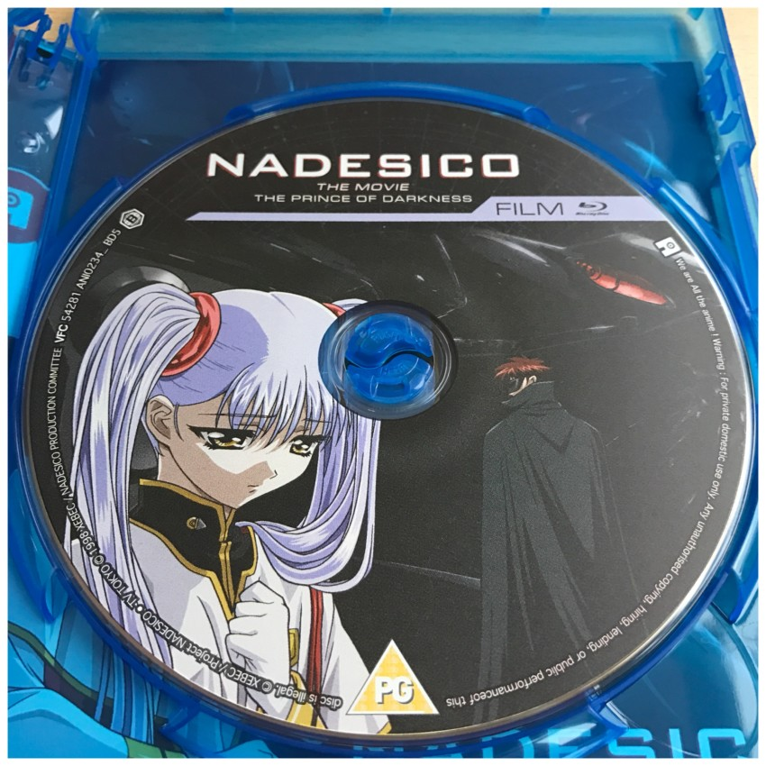 And the disc for the movie itself