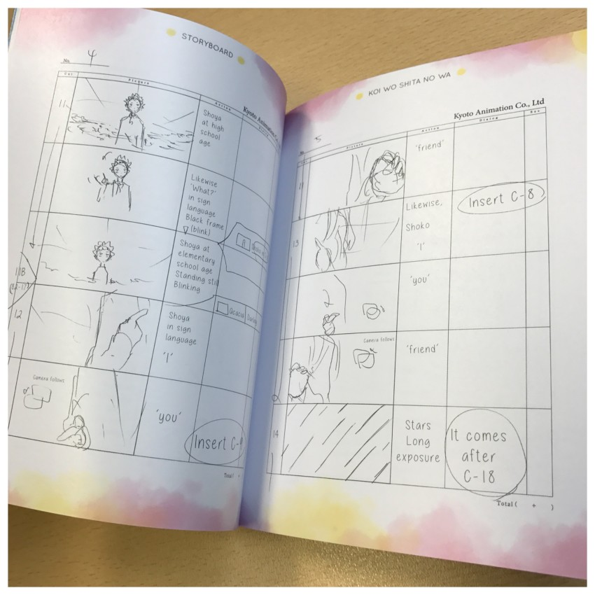 Another glimpse at the storyboard section