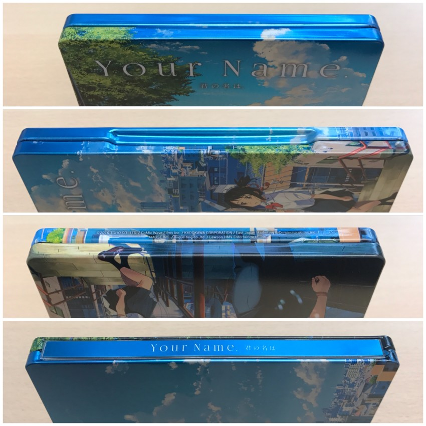 All four spines of the Steelbook