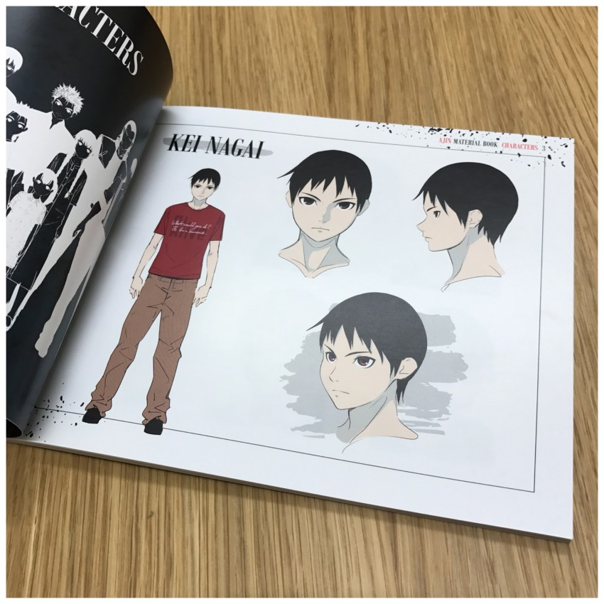 So as to avoid as possible spoilers, we'll be showing you the majority of the first character shown in the book plus a few more images. Here's Kei