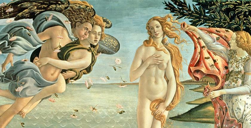 (1444/5-1510); 172.5x278.5  cm; Galleria degli Uffizi, Florence, Italy; Giraudon; Italian,  out of copyright