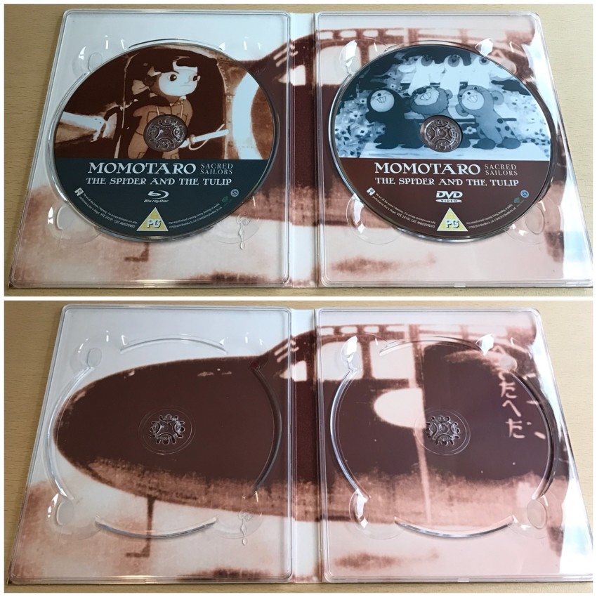 The digipack once again. This time with discs in place (top) and removed (bottom)