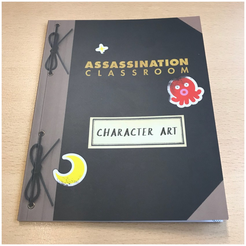 And now onto the art booklet. Worth noting that while we're not going to be showing too many pages, there may be potential spoilers ahead.
