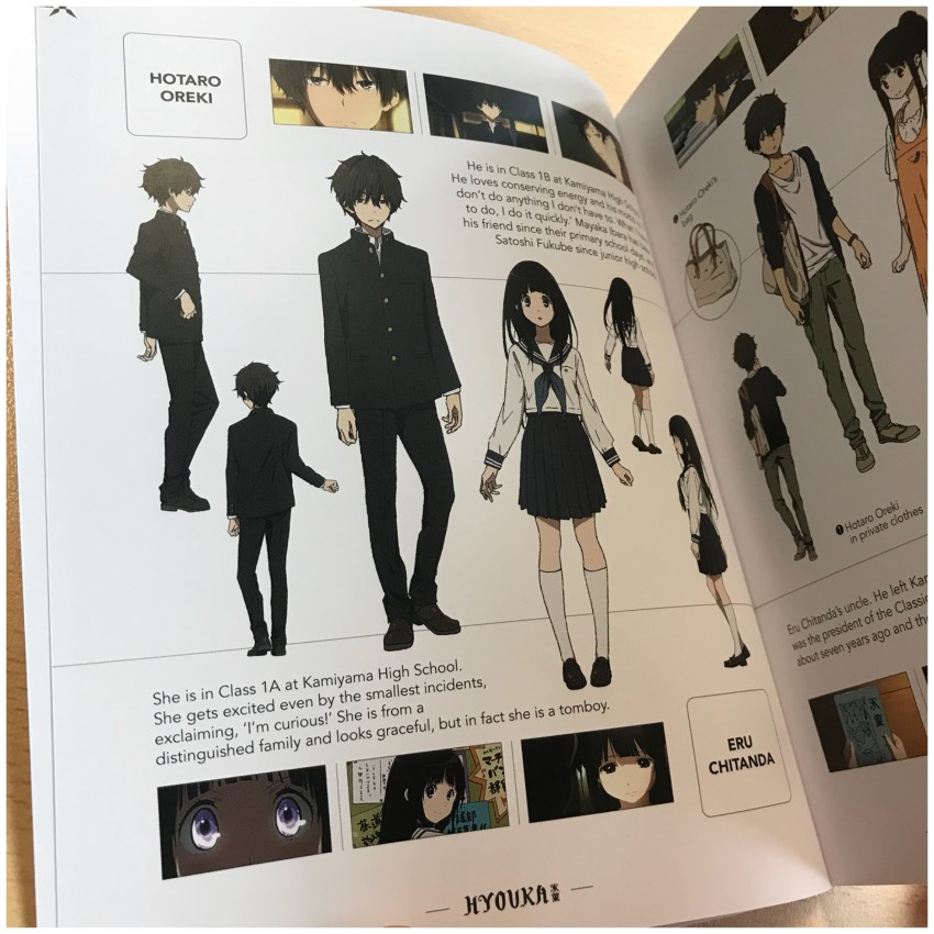 First of all we'll show you some select pages from the Character section