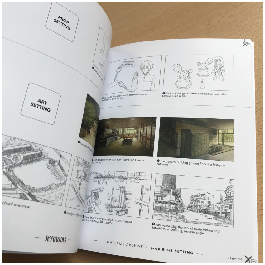 And now we move onto select pages from the Props & Art Setting section