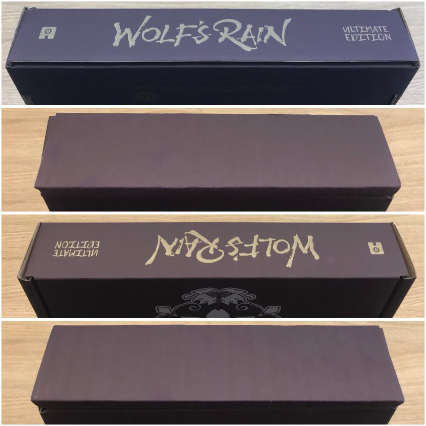 Here's a look at all four spines of the mailer box.