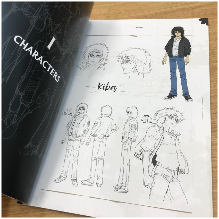 First up, section 1: characters. Let's show you a few pages from this section.