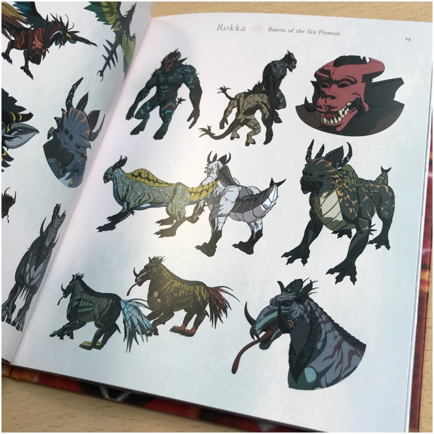 We then move onto Beastiary section. Here's a quick glimpse at that.