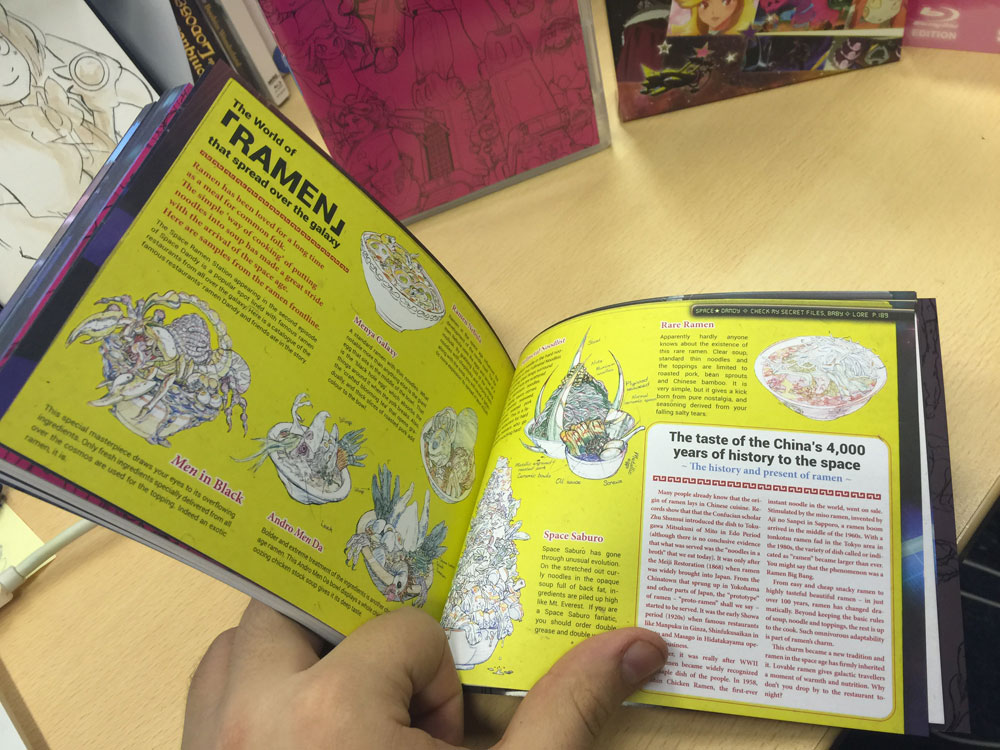 Example of the inside of the book #7 - translated from the Japanese homevideo release - the lore of Space Dandy!