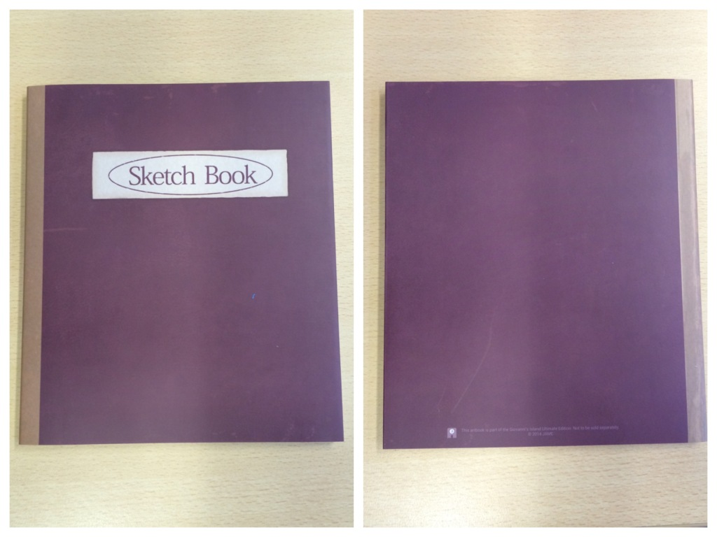 The outside of the soft back book included in the ultimate edition.