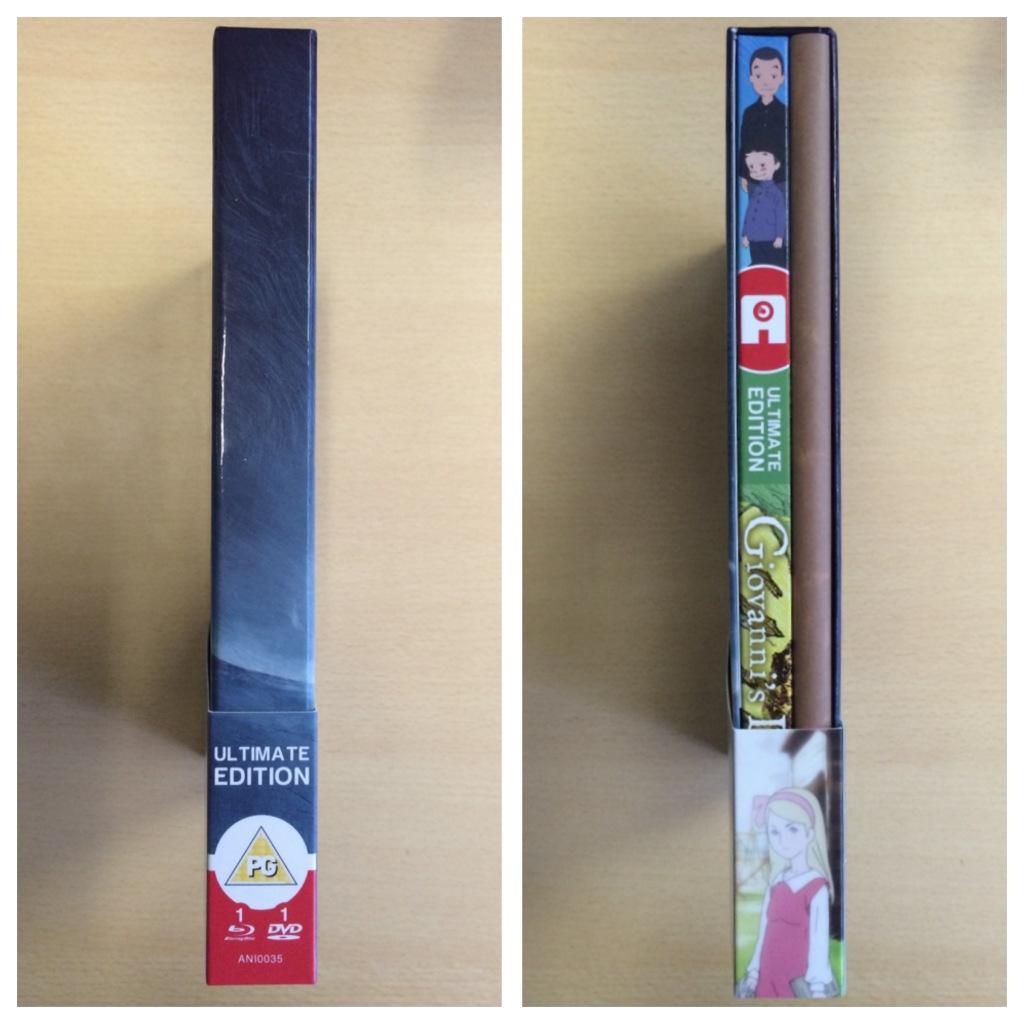 The side spines of the Ultimate Edition box.