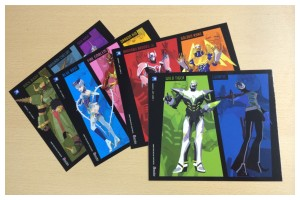 The four exclusive art cards
