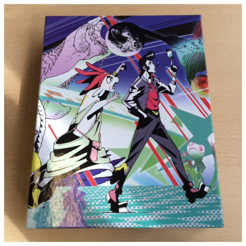 Side 1 of the box. The image was commissioned for our release and drawn by Space Dandy character designer, Yoshiyuki Ito.