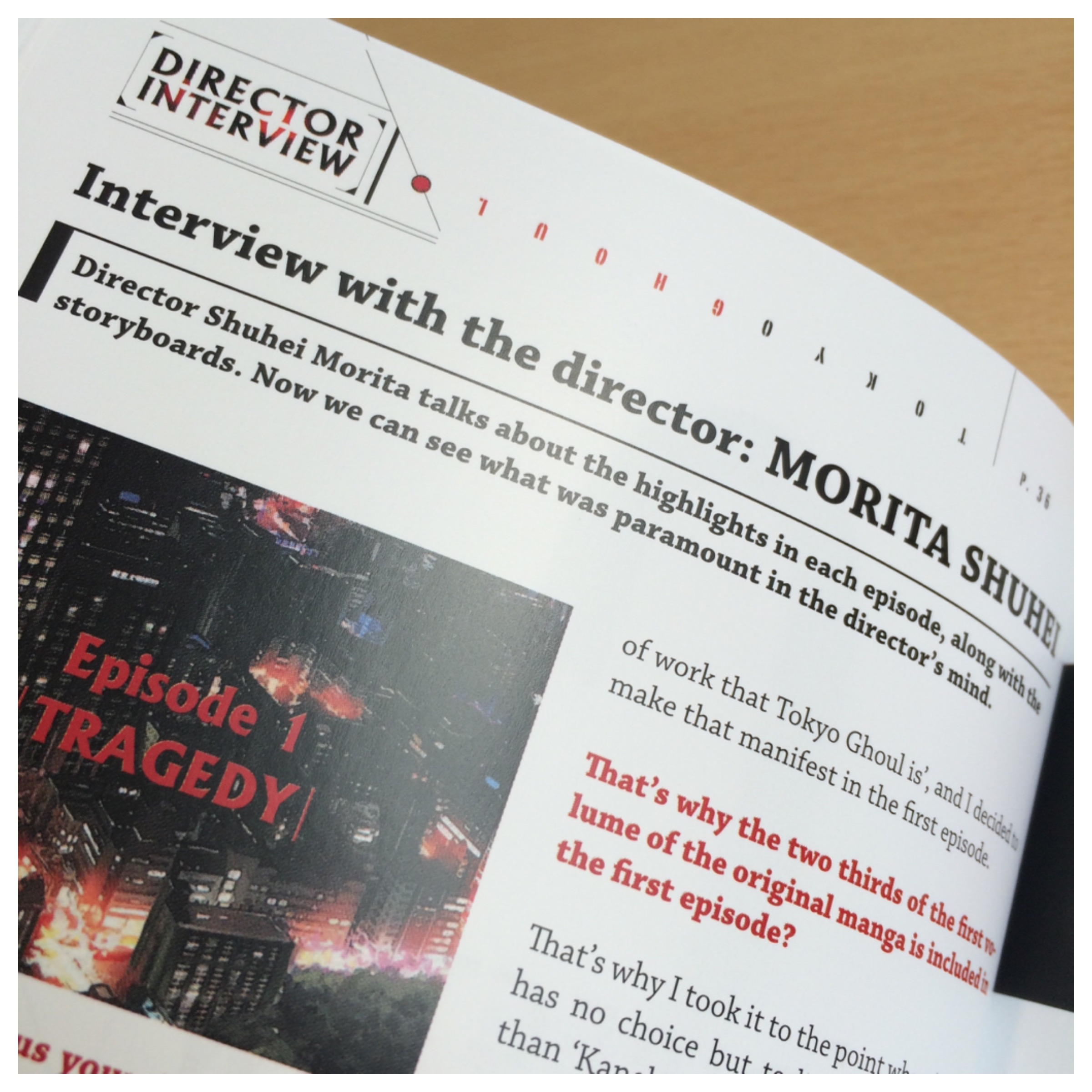 This section has a in-depth interview about the series with Director, Shuhei Morita