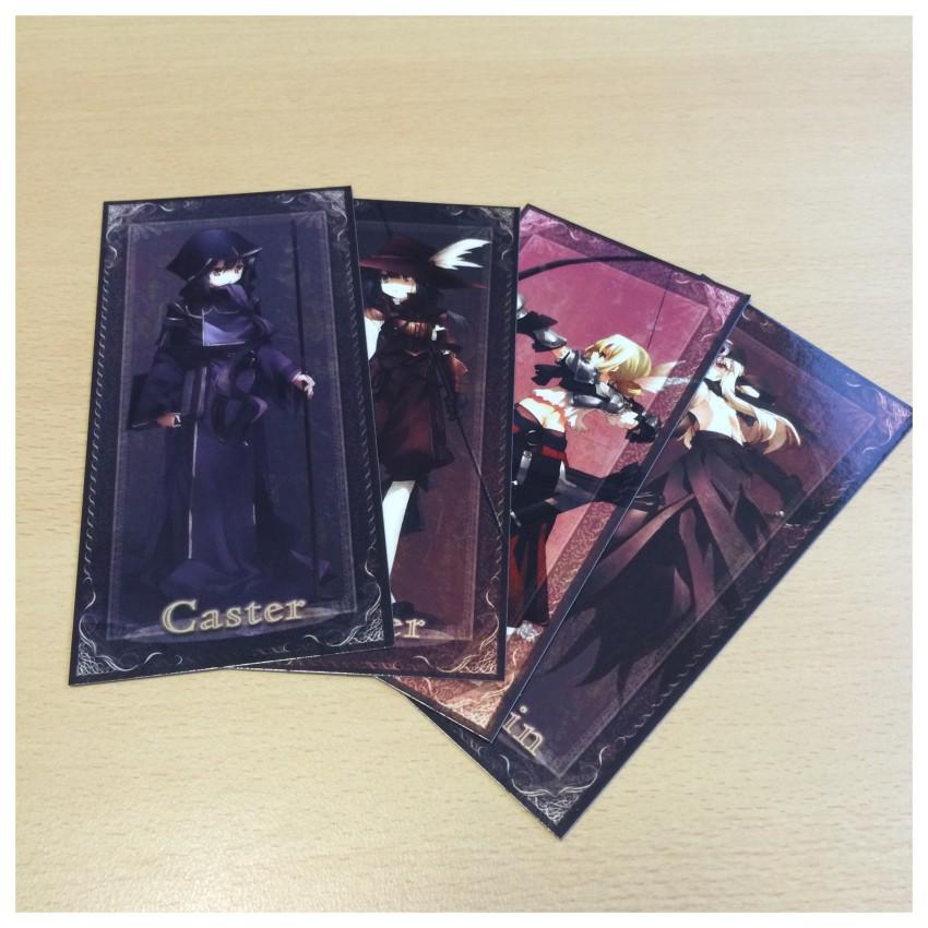 The four Tarot cards