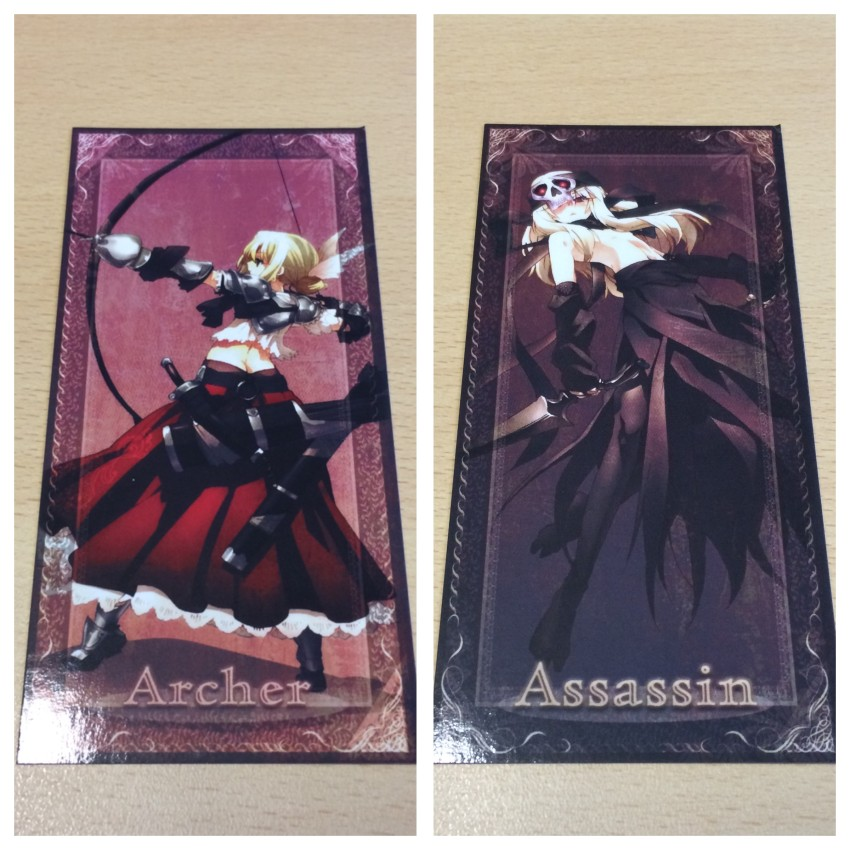 The other two Tarot cards close up