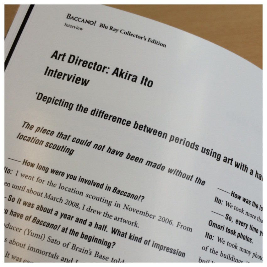 There are more interviews in the booklet, this one with the Art Director, Akira Ito is one of them.