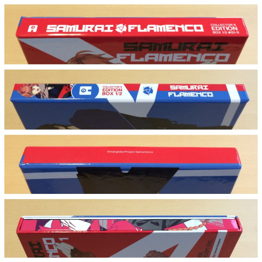 A look at all four spines of the rigid case